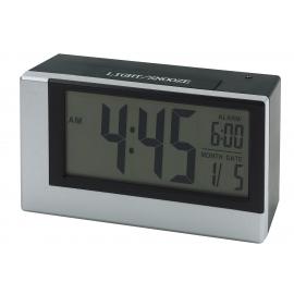 Cyfrowy zegarek na biurko, SMOULDER, srebrny/czarny