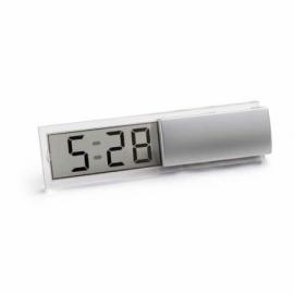 Zegar Satynowy srebrny
