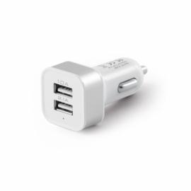 Samochodowy adapter USB Biały
