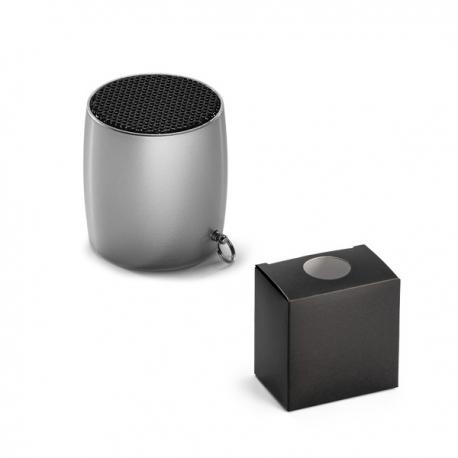 Miniaturowy głośnik z mikrofonem Satynowy srebrny