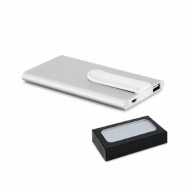 Przenośna bateria Satynowy srebrny