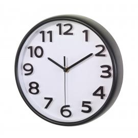 Zegar ścienny, HALLEY, czarny