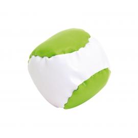 Piłeczka antystresowa, JUGGLE, biały/jasnozielony