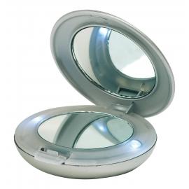 Lusterko kosmetyczne z lampką Led, DIVA, srebrny