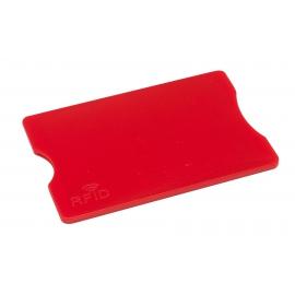 Etui na kartę kredytową, PROTECTOR, czerwony