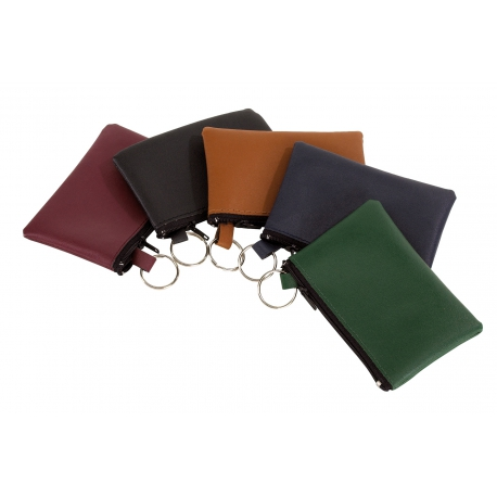 Sakiewka na klucze, HOME, brązowy/zielony/czerwony/niebieski/czarny