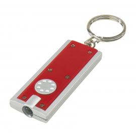Brelok LED, LOOK, czerwony/srebrny