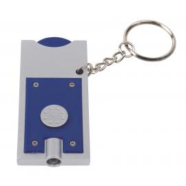 Brelok LED, SHOPPING, srebrny/niebieski