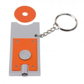 Brelok LED, SHOPPING, srebrny/pomarańczowy