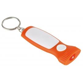 Brelok z diodą LED, MITHRAS, biały/pomarańczowy