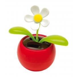 Kwiatek na baterię słoneczną, WAVER, czerowny