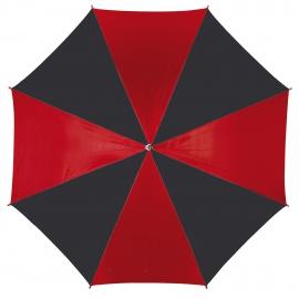 Parasol automatyczny, DISCO, czarny/czerwony