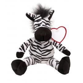 Zebra pluszowa, LORENZO, czarny/biały