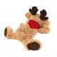 Łoś pluszowy, FRIDOLIN, czerwony/brązowy