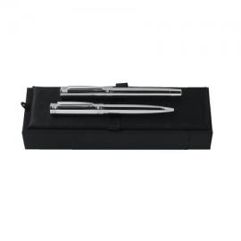 "Zestaw NPBR209 - długopis NST2094 ""Zoom Silver"" + Pióro kulkowe NST2095 ""Zoom Silver"""
