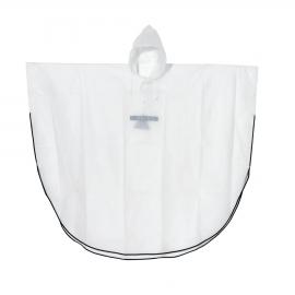 Poncho z paskami odblaskowymi, DRY AND SAVE, biały