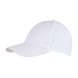 6 segmentowa czapka, PITCHER, biały