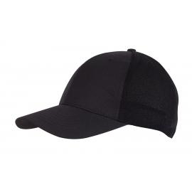 6 segmentowa czapka, PITCHER, czarny