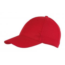 6 segmentowa czapka, PITCHER, czerwony