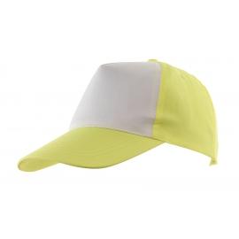 5 segmentowa czapka, SHINY, żółty