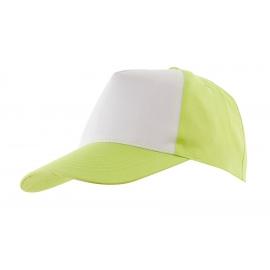 5 segmentowa czapka, SHINY, zielony