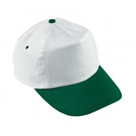 Czapka baseballowa, ATHLETE, biały/zielony