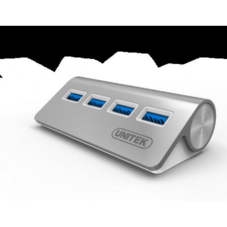 Unitek Y-3186 Aluminiowy Hub 4x USB 3.0