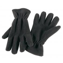 Rękawiczki z włókna polarowego, ANTARTIC, czarny