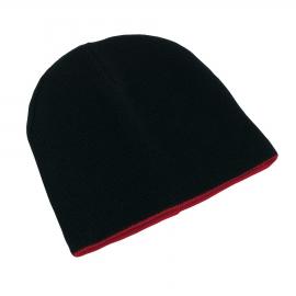 Dwustronna czapka, NORDIC, czarny/czerwony