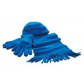 Zestaw z polaru, TRIPLE, niebieski