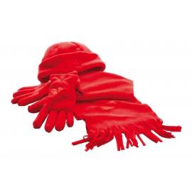 Zestaw z polaru, TRIPLE, czerwony