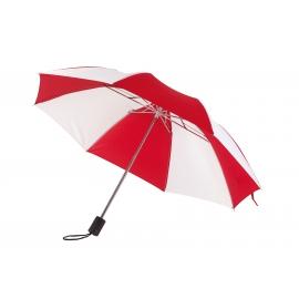 Parasol, REGULAR, biały/czerwony