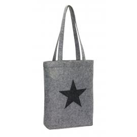 Filcowa torba na zakupy, STAR DUST, szary