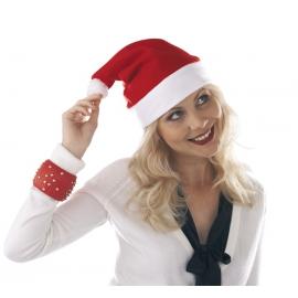 Filcowa czapka Św. Mikołaja, HAPPY HAT, czerwony/biały