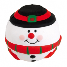 Piłeczka antystresowa, SNOWMAN, czerwony/biały