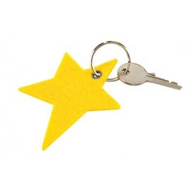 Filcowy brelok w kształcie gwiazdy, STJÄRNA, żółty