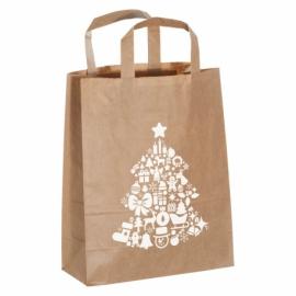 Mała torebka świąteczna z papieru