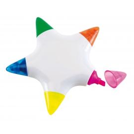Zakreślacz, 5 kolorów, STAR, biały