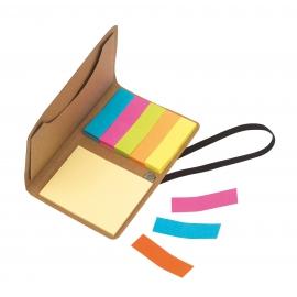 Pudełko na notatki, STICK ME, brązowy