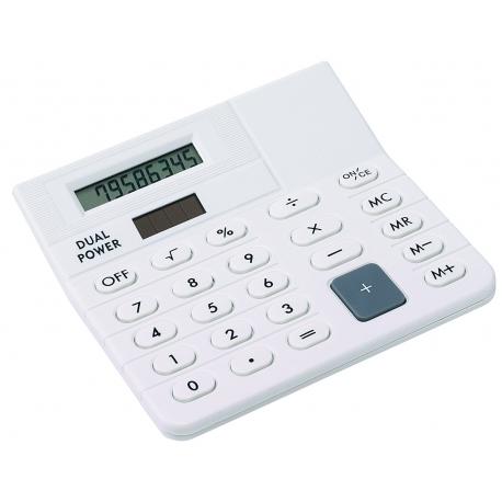 Mini-kalkulator, CORNER, biały