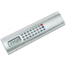 Kalkulator w kształcie linijki, 20 cm, CALCULINE, srebrny