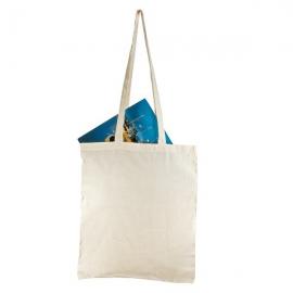 Bawełniana torba na zakupy - długie uszy, beżowy
