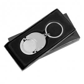 Metalowy brelok z żetonem Coinfree, srebrny