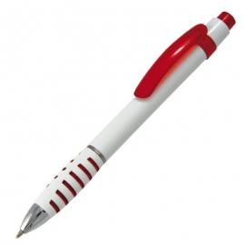 Długopis Martes, czerwony/biały