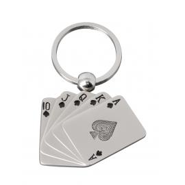 Brelok, CARDS, srebrny