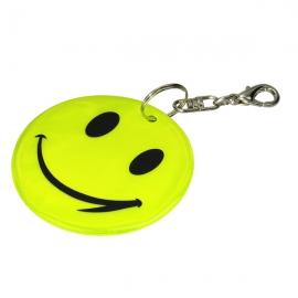Brelok odblaskowy Happy, żółty