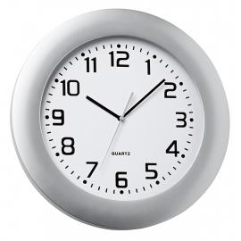 Zegar ścienny, PUNKTO, srebrny