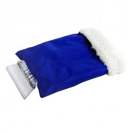 Skrobaczka do szyb z rękawicą, niebieski