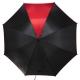 Parasol automatyczny Davos, czarny/czerwony