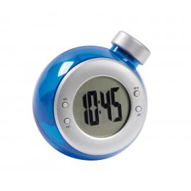 Zegar na biurko, DEEP BLUE, czarny/srebrny